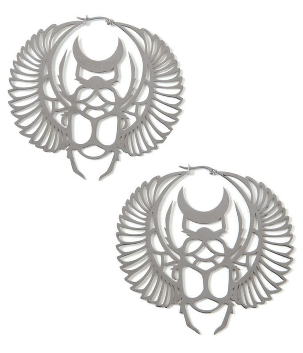náušnice KILLSTAR - Scarab Earrings - Silver - KIL354