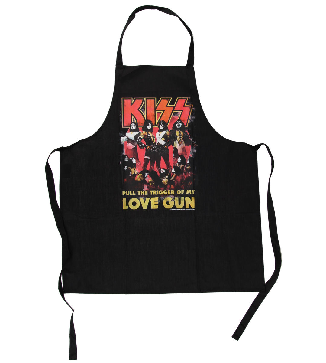 zástěra Kiss - Love Gun Apron - LOW FREQUENCY - KIAP060011