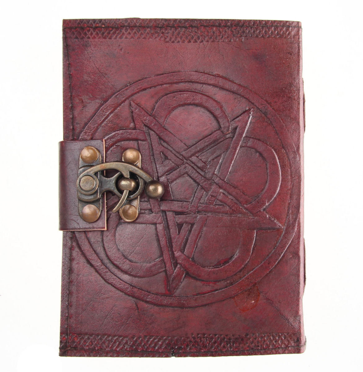 poznámkový blok Pentagram Leather Embossed Journal & Lock - NENOW - D1024C4