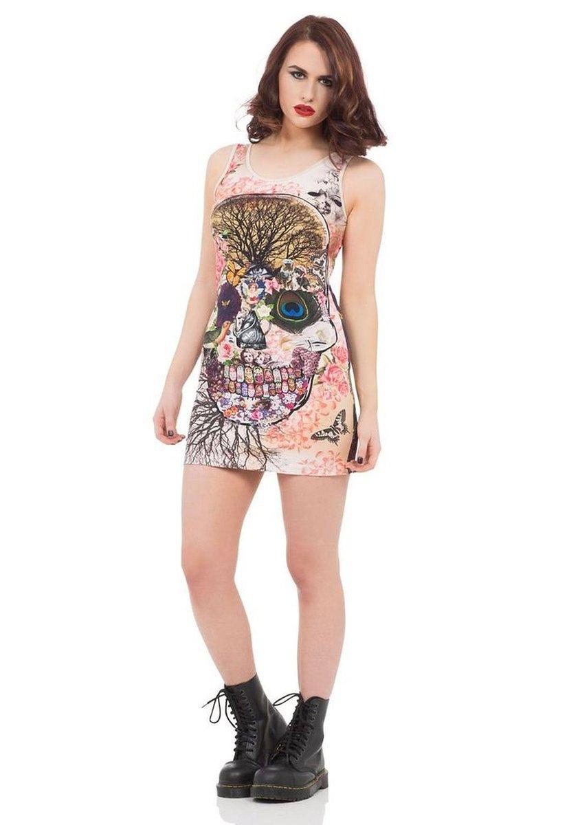 šaty dámské VOODOO VIXEN - Multi Skull - DRA8182 S