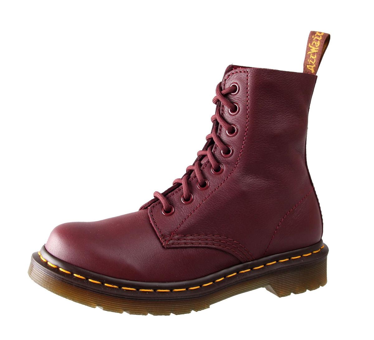 boty Dr. Martens - 8 dírkové - Pascal Cherry Red Virginia - DR004