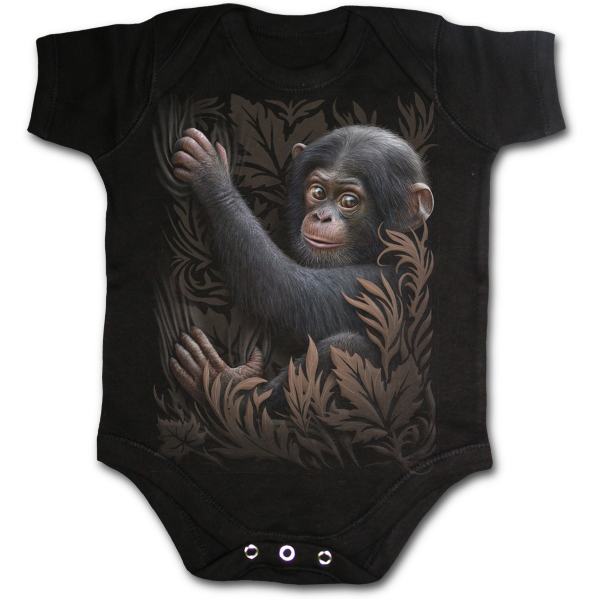 dětské body SPIRAL - Monkey Business - Black - F031K002