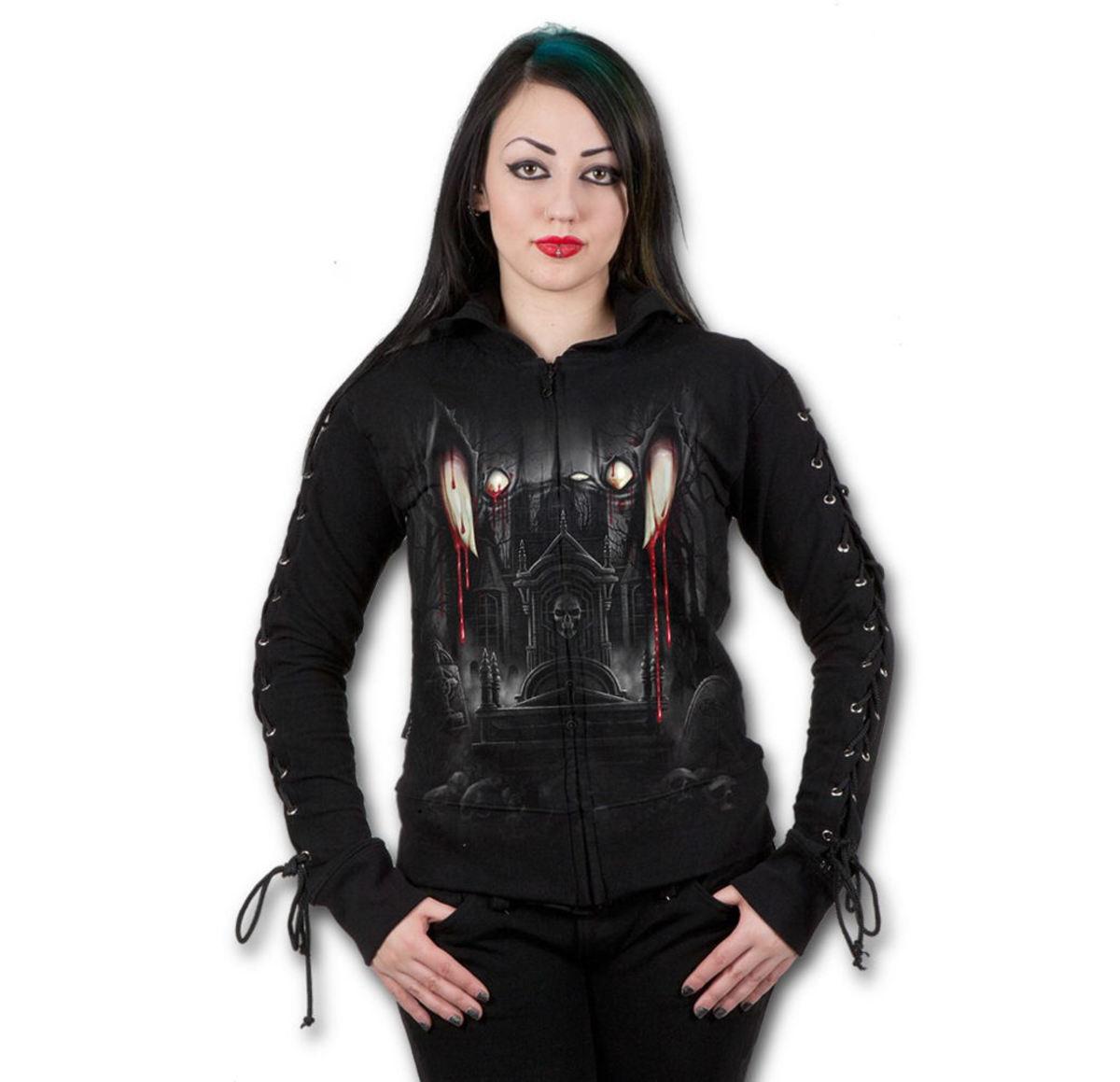 mikina dámská SPIRAL - Vamp Fangs - Black - D019F265