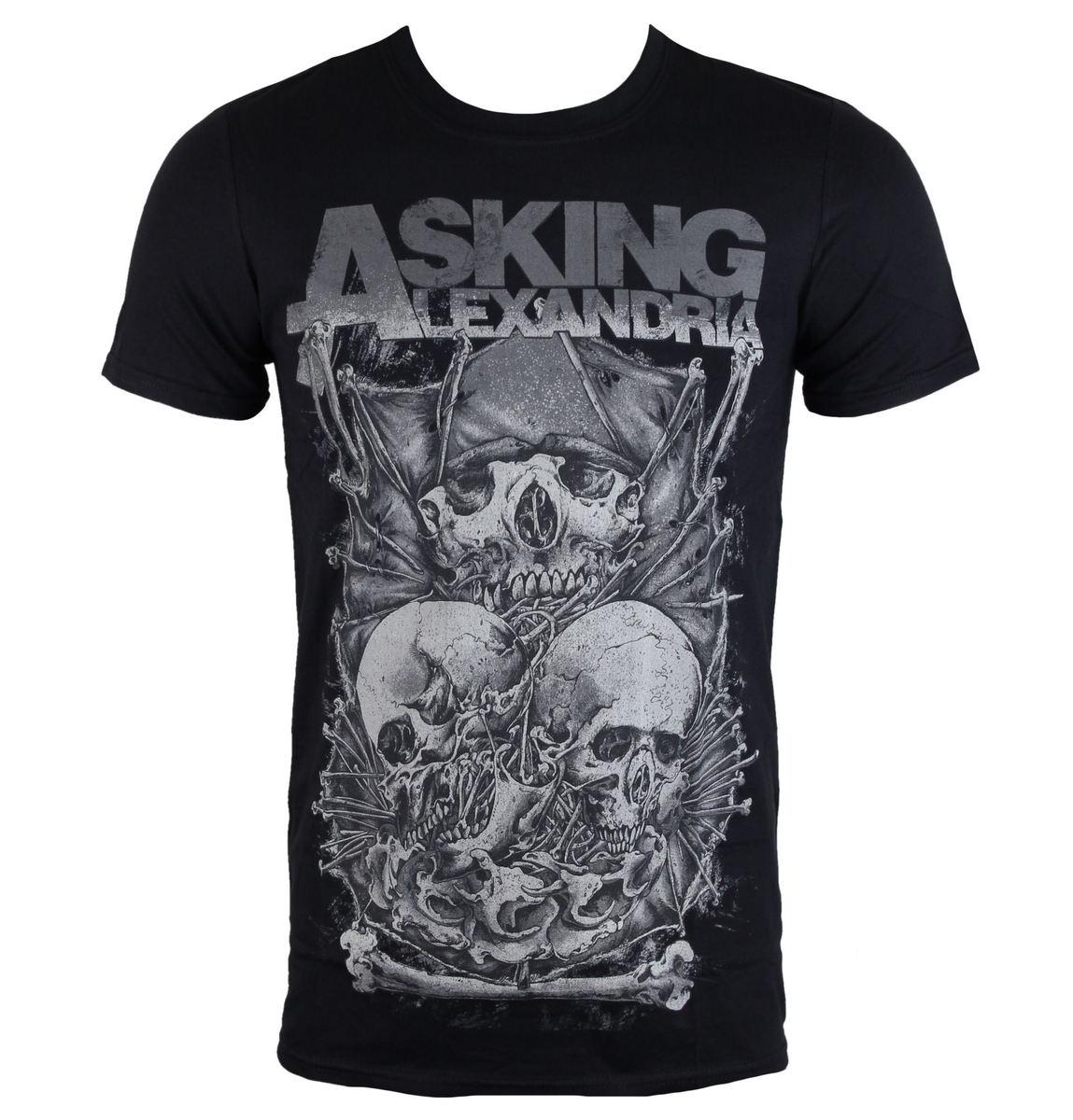 tričko pánské Asking Alexandria - Skull Stack - ROCK OFF - ASKTS15MB