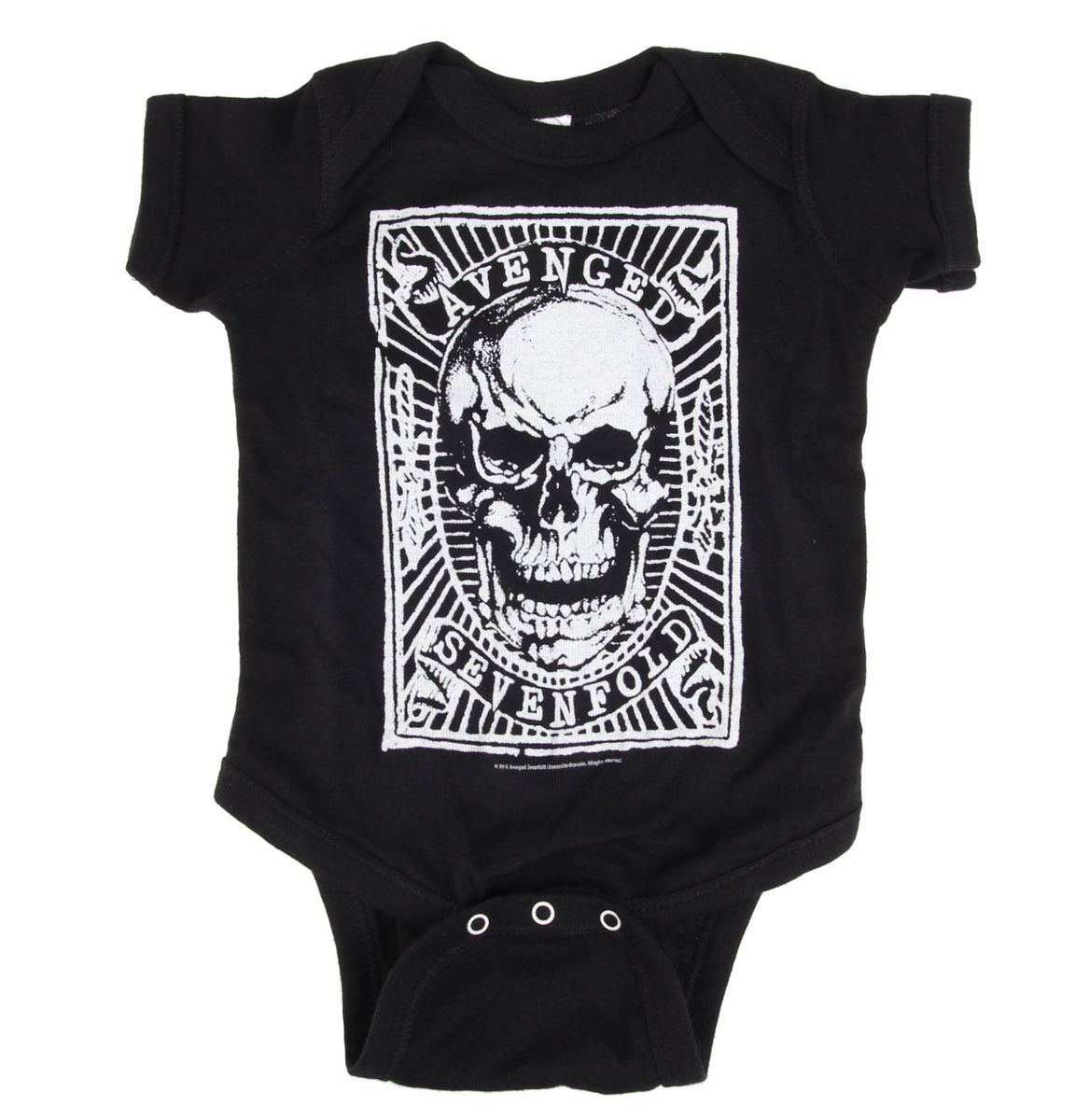 body dětské Avenged Sevenfold - SKULL PATCH-BLACK - BRAVADO - 17951418