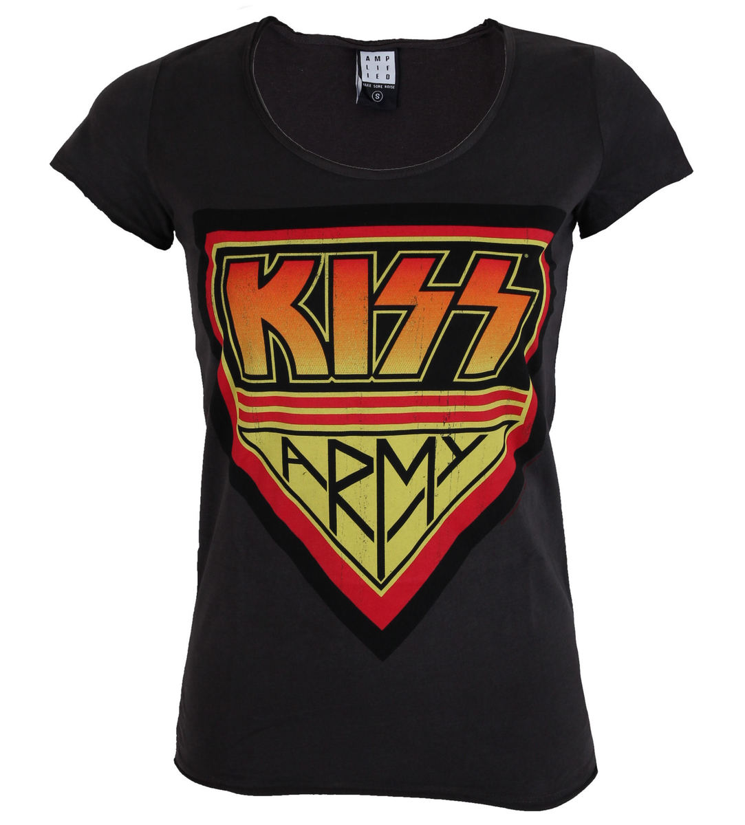 AMPLIFIED Kiss DISTRESSED ARMY CHARCOAL černá
