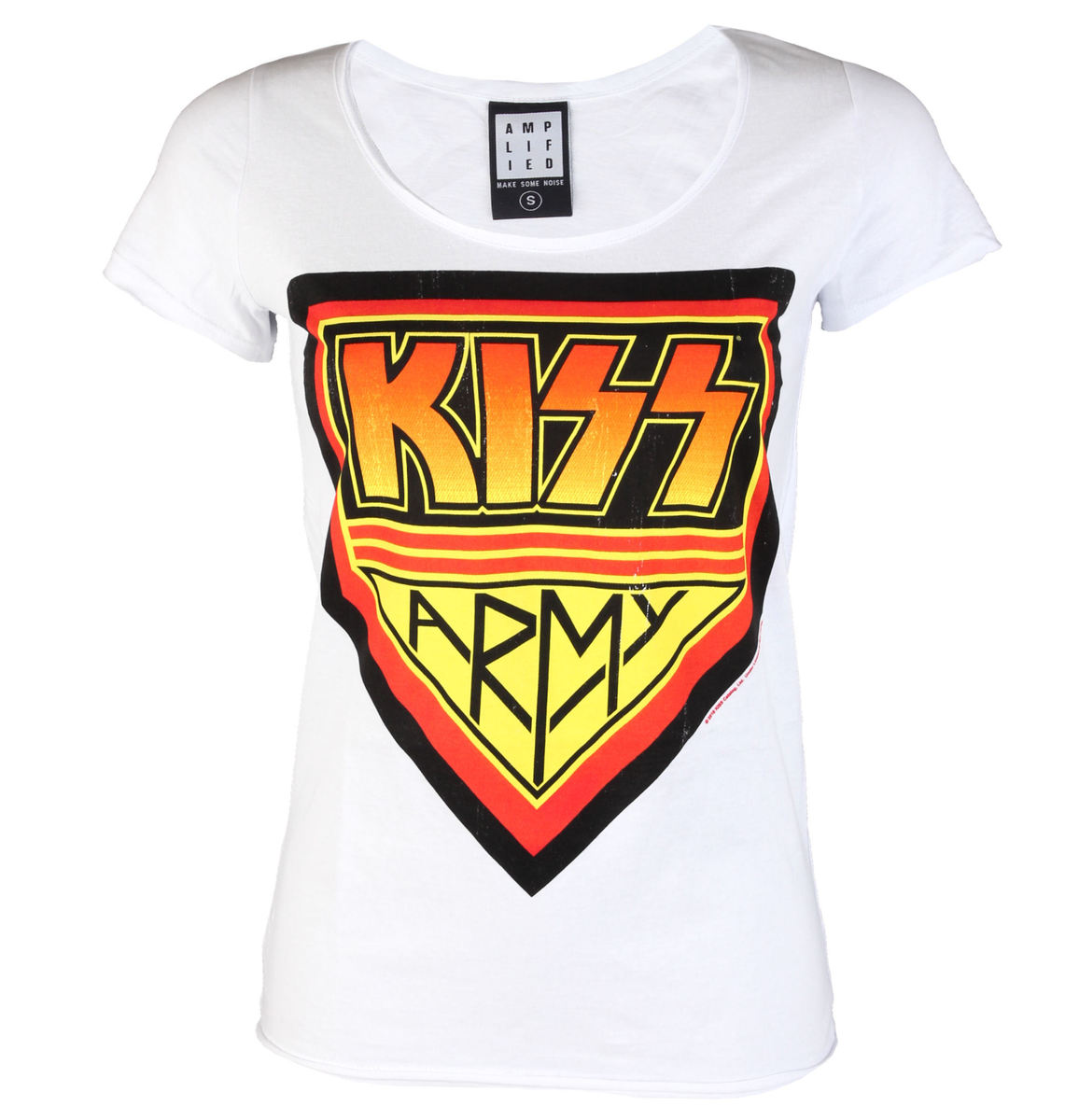 AMPLIFIED Kiss DISTRESSED ARMY WHITE černá bílá