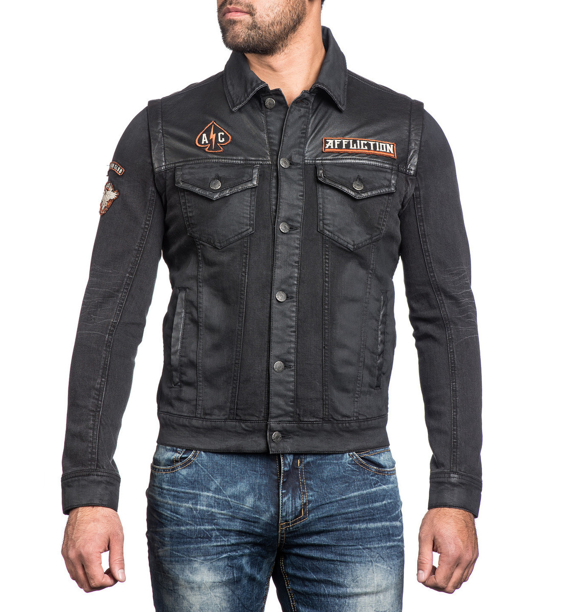 bunda pánská AFFLICTION - Bike Cutter - 110OW238-BK