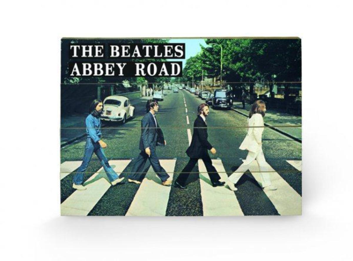 dřevěný obraz The Beatles - Abbey Road - SW10394P