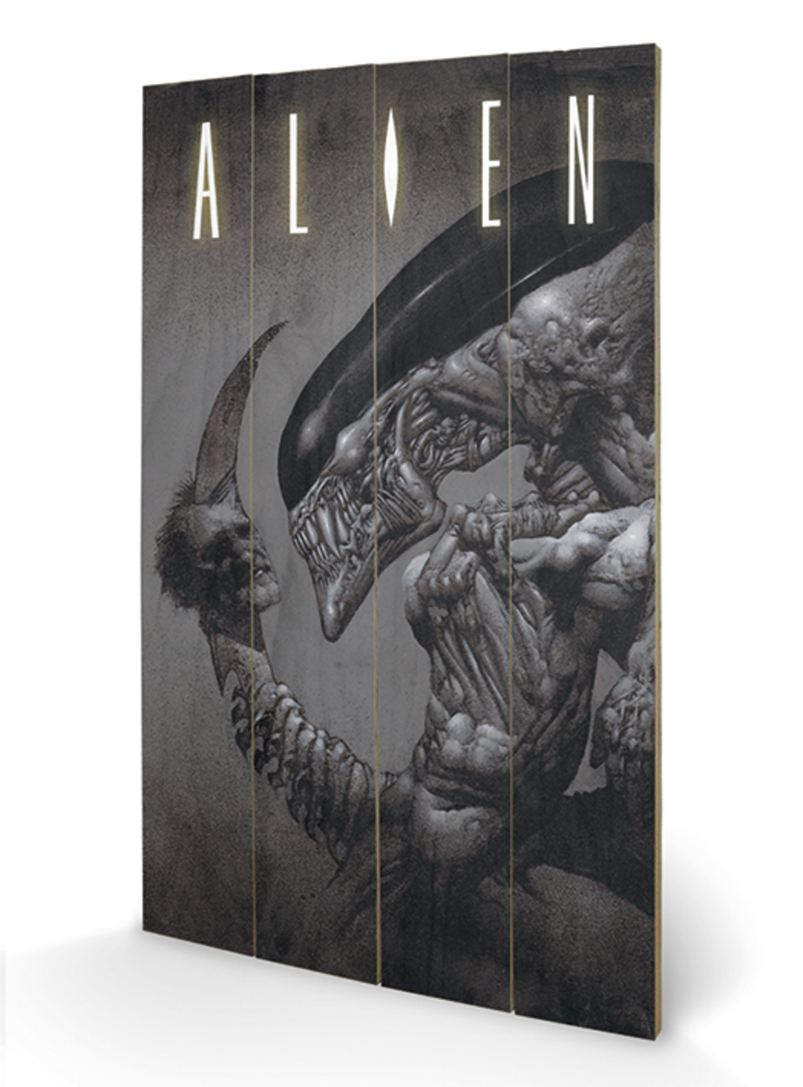 dřevěný obraz Alien - Head on Tail - Pyramid Posters - LW11414P