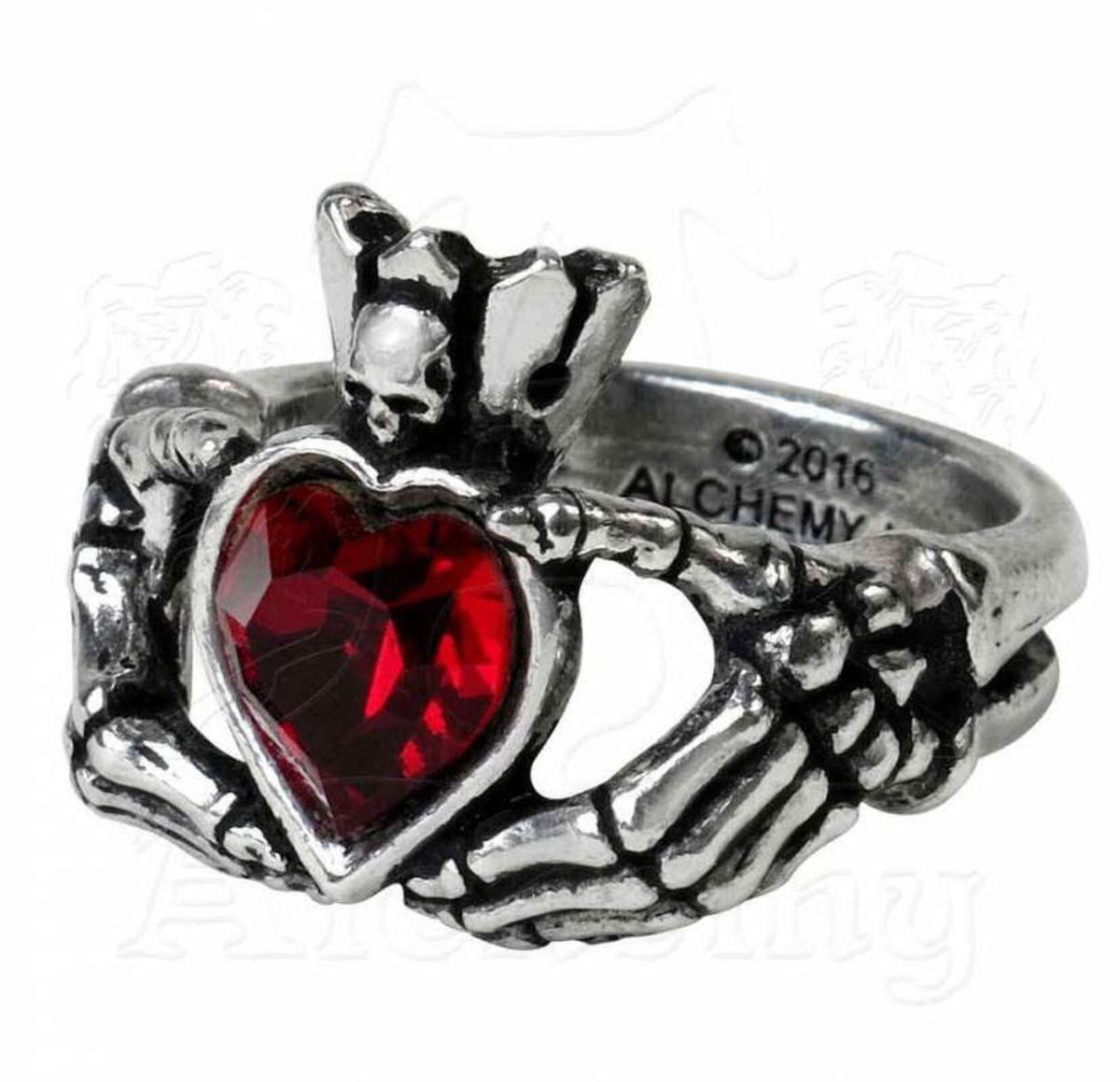 prsten ALCHEMY GOTHIC - Claddagh By Night - R210 T