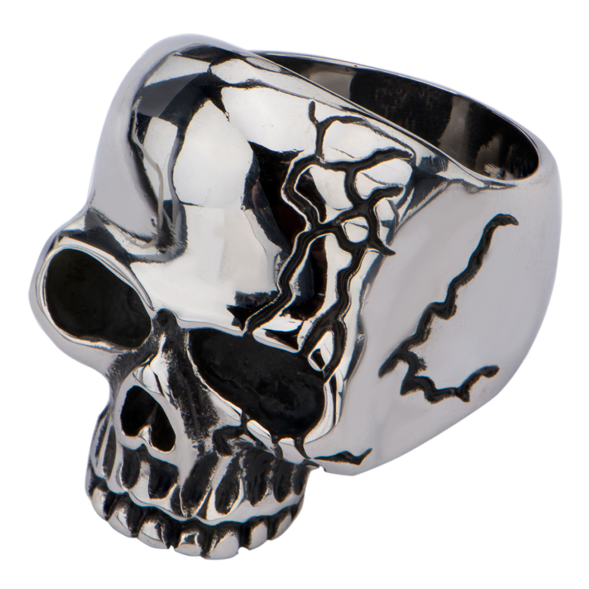 prsten INOX - SKULL WITH CRACK - FR666 9