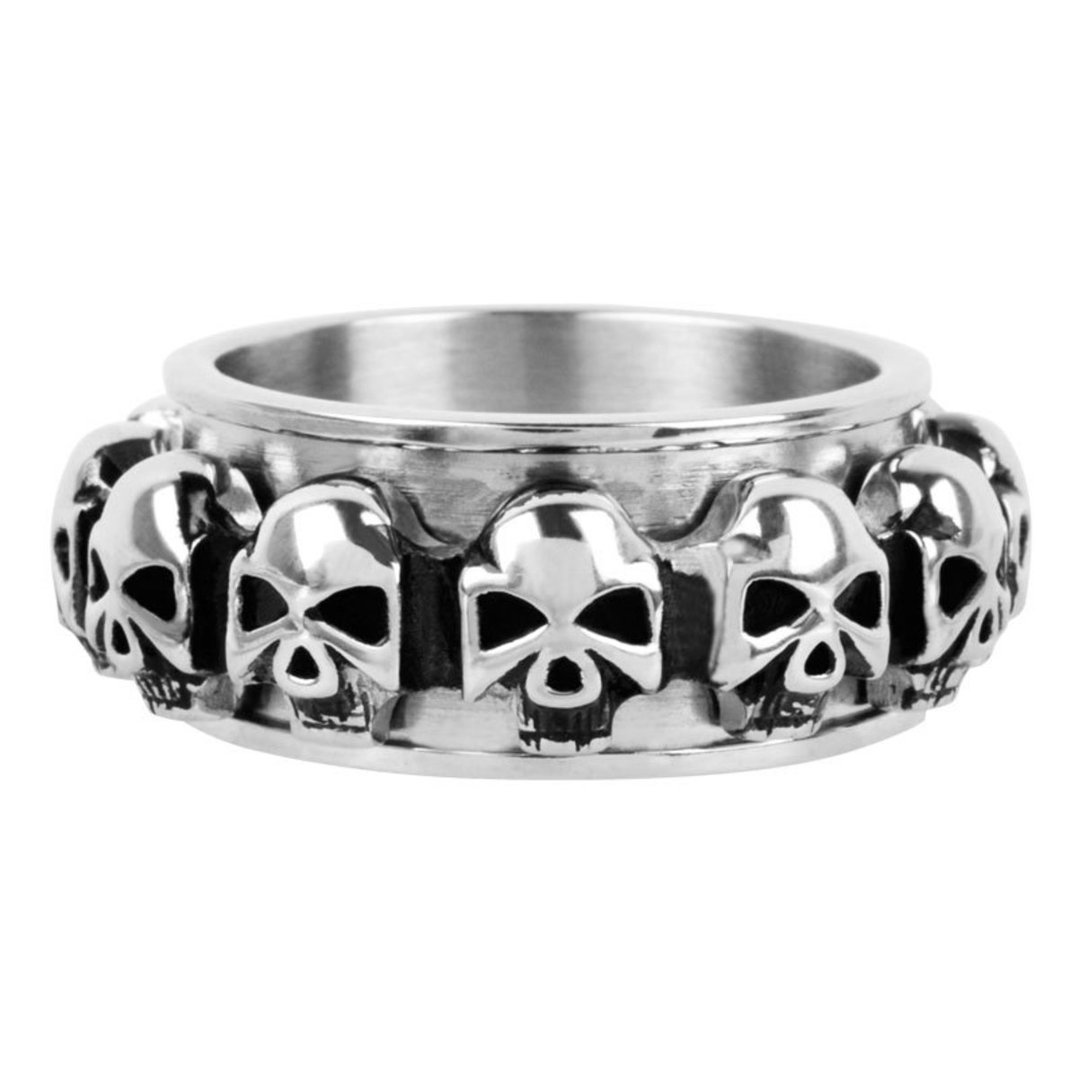 prsten INOX - skulls around - FR1046 12