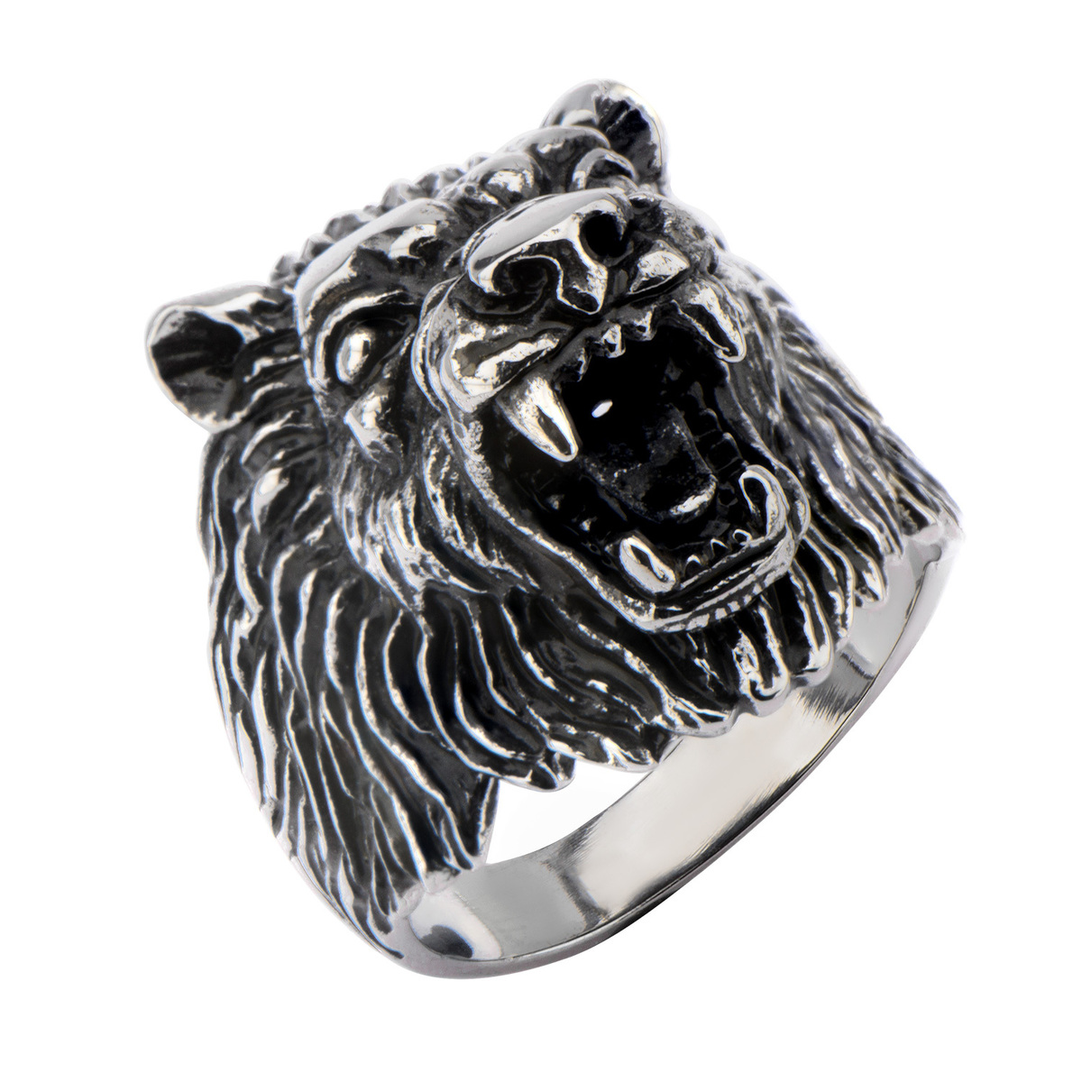 prsten INOX - BIG WOLF BLACK - FR1271 12