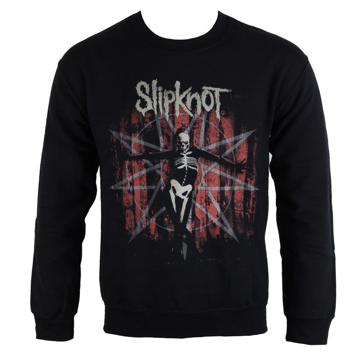 mikina bez kapuce pánské Slipknot - The Grey Chapter Star - ROCK OFF - SKSWT12MB