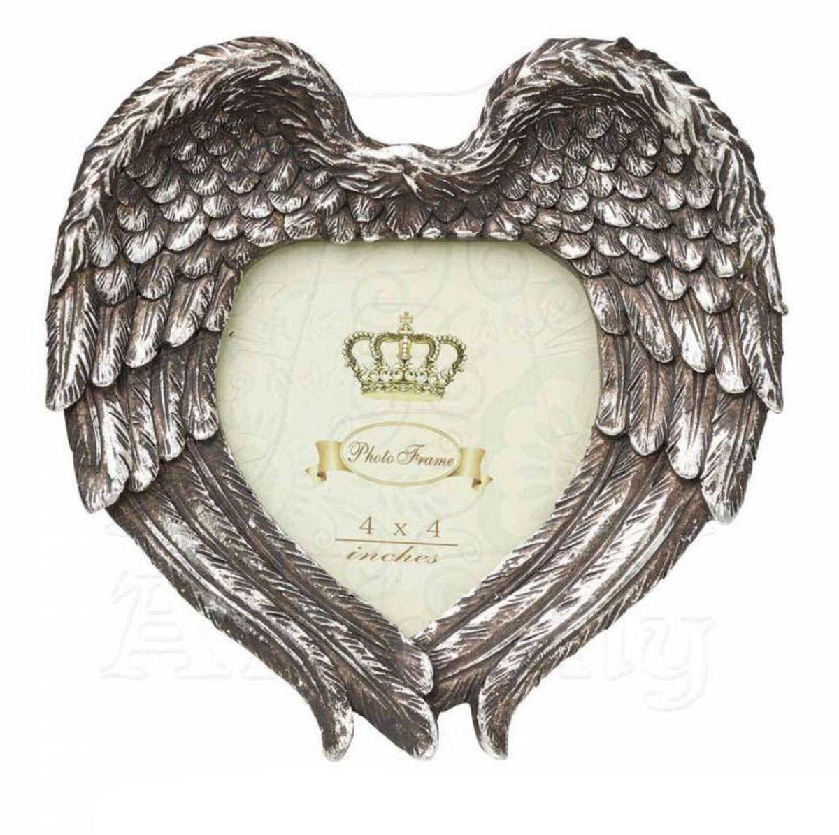 dekorace (fotorámeček) ALCHEMY GOTHIC - Winged Heart (Wings Closed) - SA7