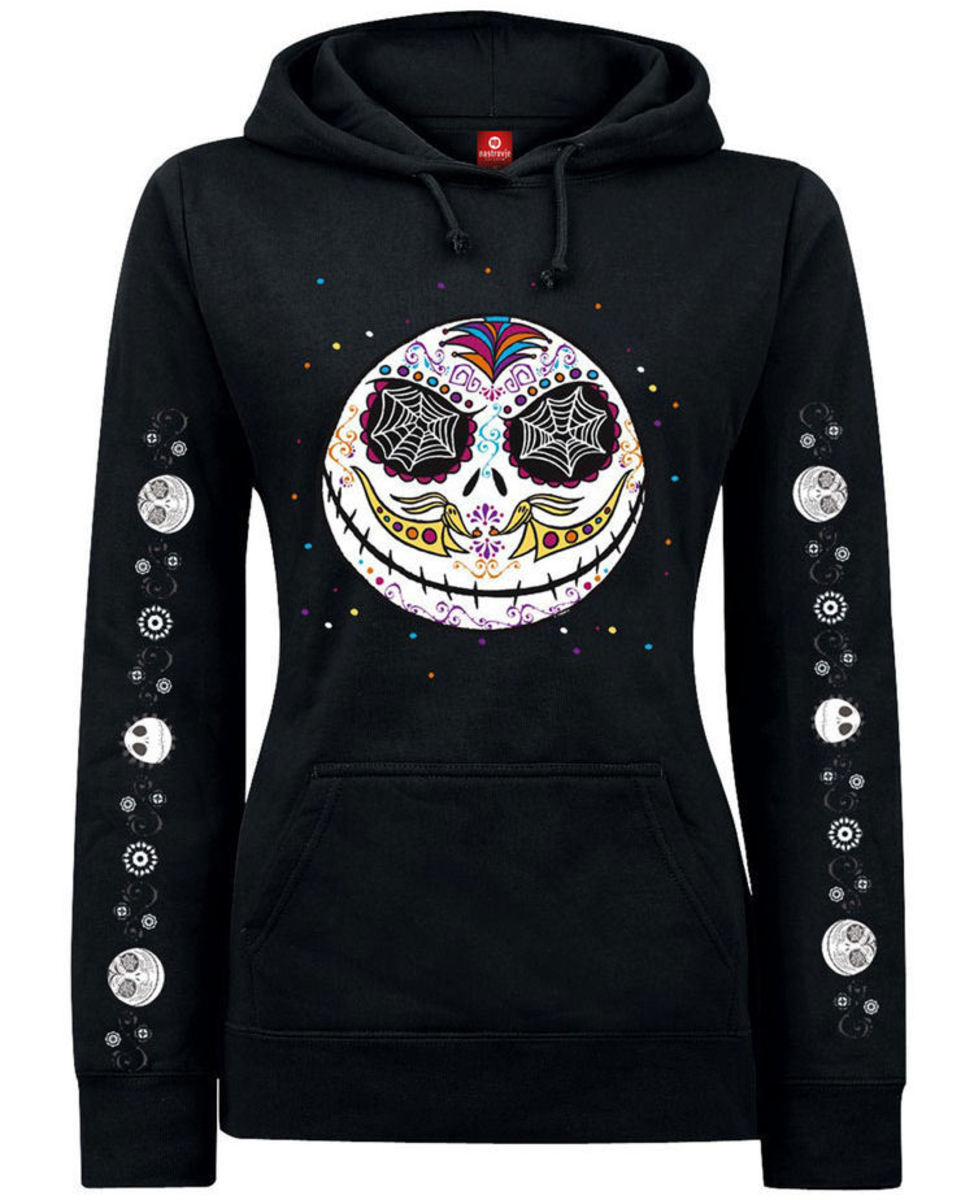mikina dámská Nightmare Before Christmas - Sugarskull Dots - Black - NPO33326