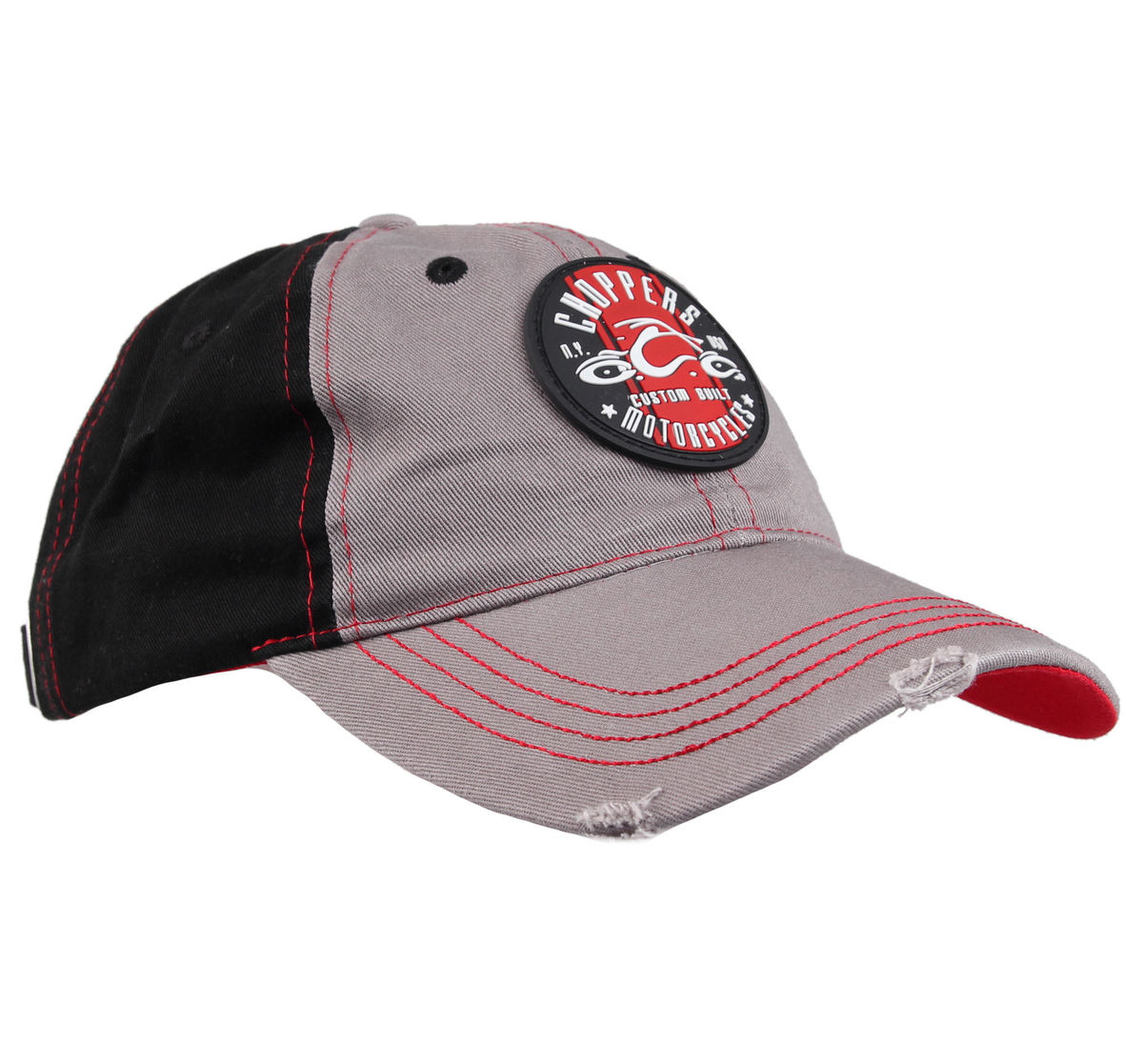 kšiltovka ORANGE COUNTY CHOPPERS - Round Logo - BlackRedGrey - OCCC00258Z