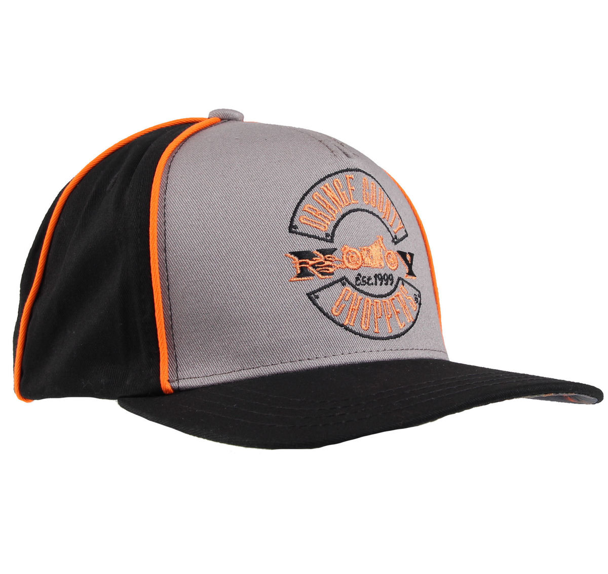 kšiltovka ORANGE COUNTY CHOPPERS - Paul Senior - Black/Grey/Orange - OCCC00599Z