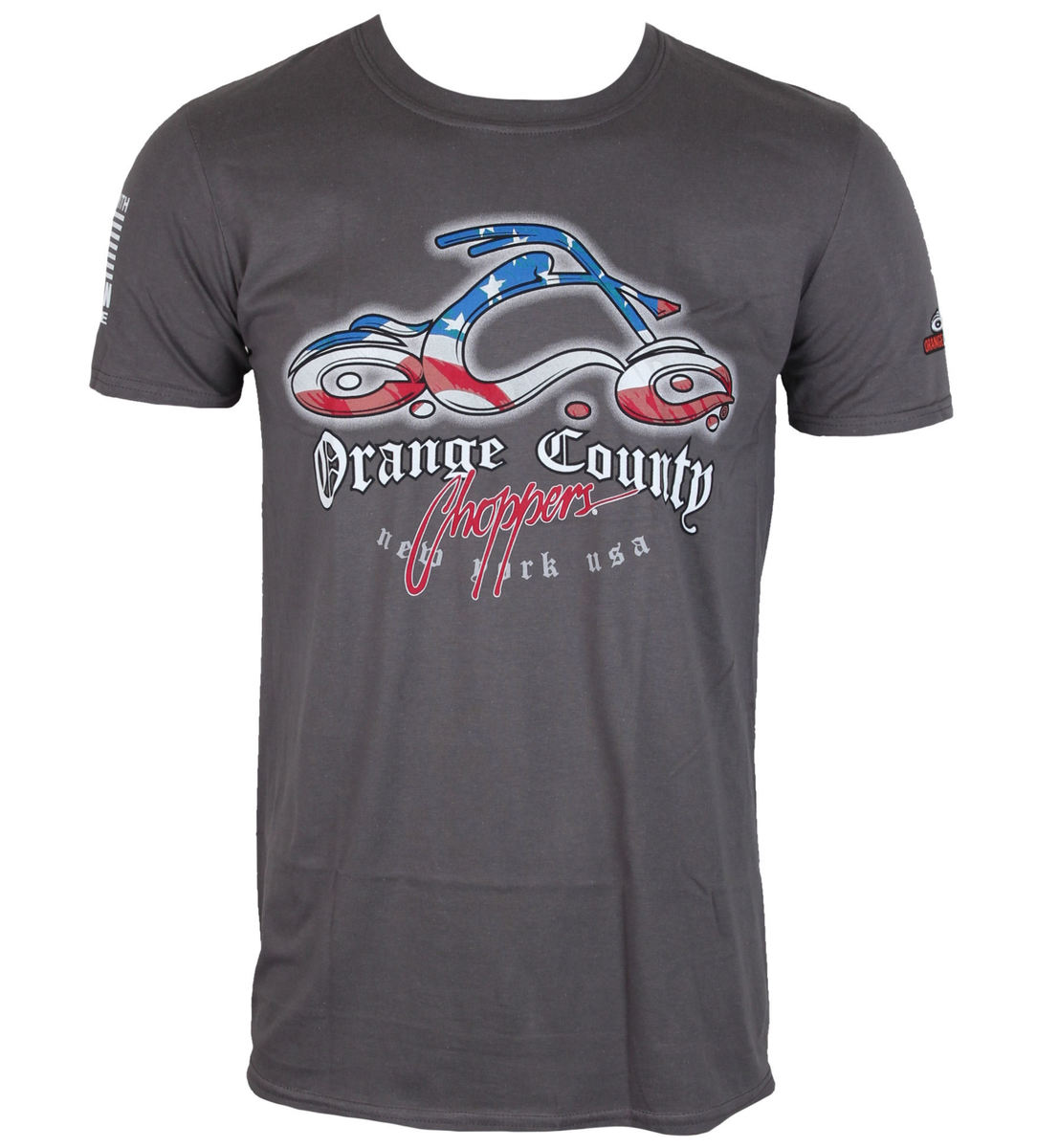 tričko pánské ORANGE COUNTY CHOPPERS - Patriotic - Charcoal - OCCTS03246