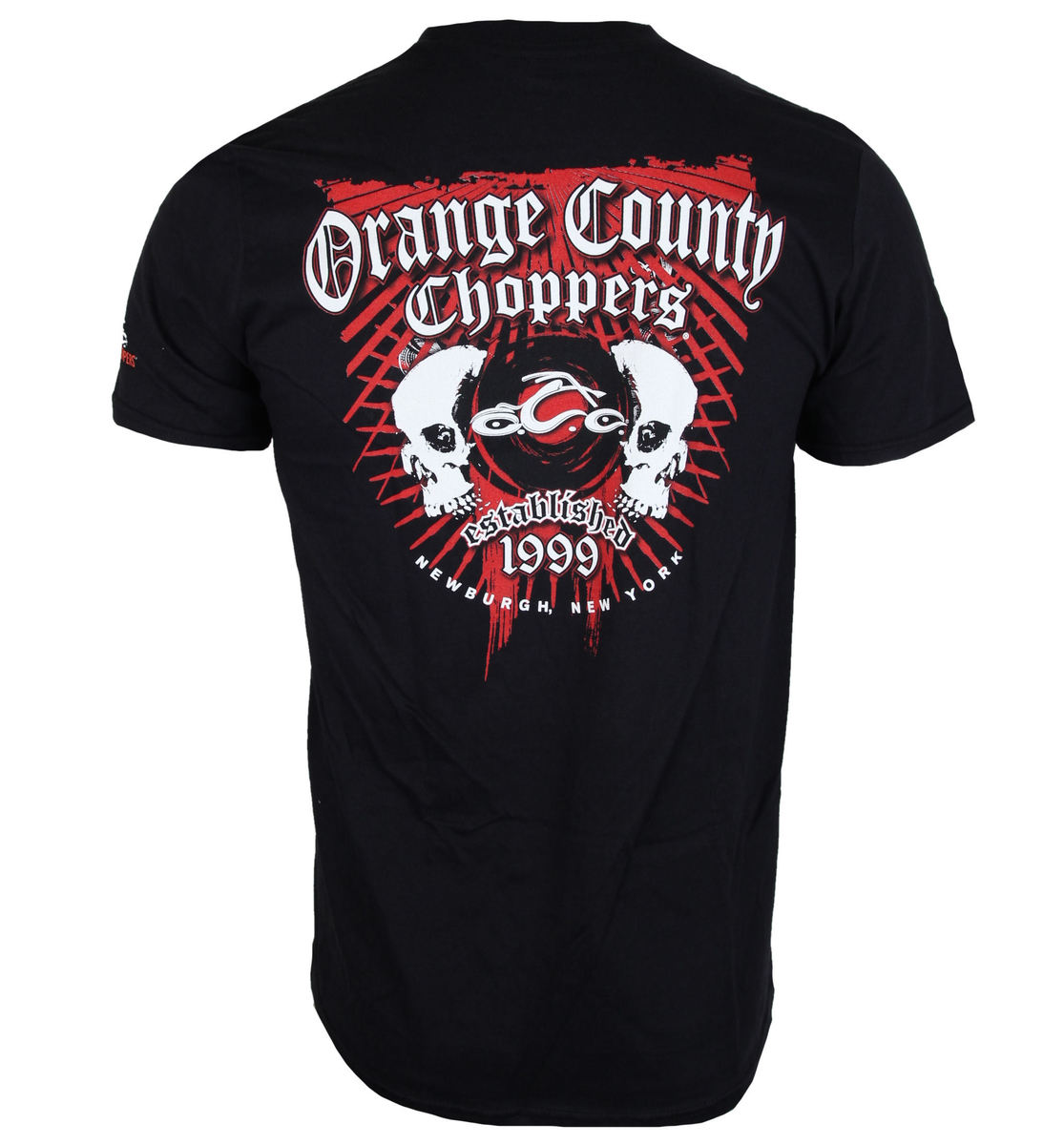 tričko pánské ORANGE COUNTY CHOPPERS - Two Skulls - Black - OCCTS04302