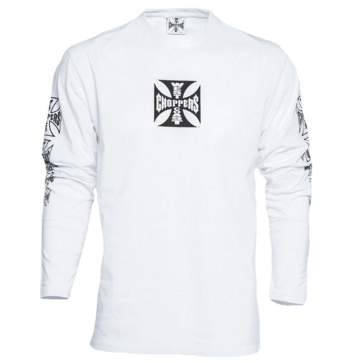 West Coast Choppers WCC OG CROSS LONG SLEEVE černá bílá