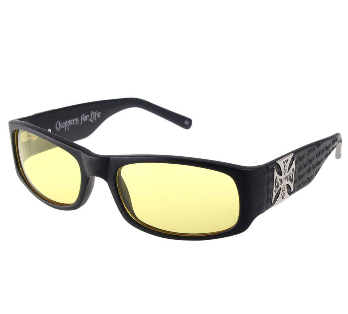 brýle West Coast Choppers - WCC GANGSCRIPT -  MATTE BLACK YELLOW - WCCZBOO9GL
