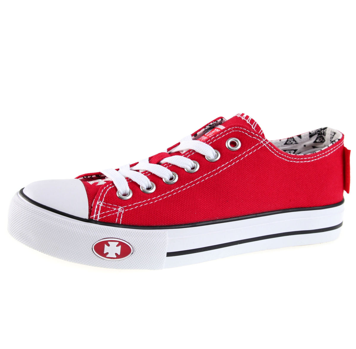 boty West Coast Choppers - WARRIOR LOW-TOP - RED - WCCSH014RD