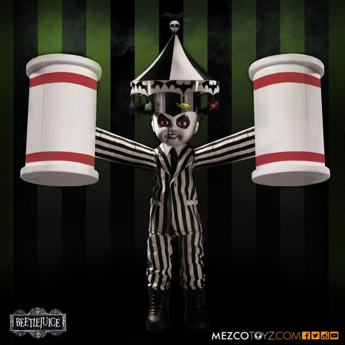 figurka Beetlejuice - Living Dead Dolls Doll - Showtime - MEZ94700