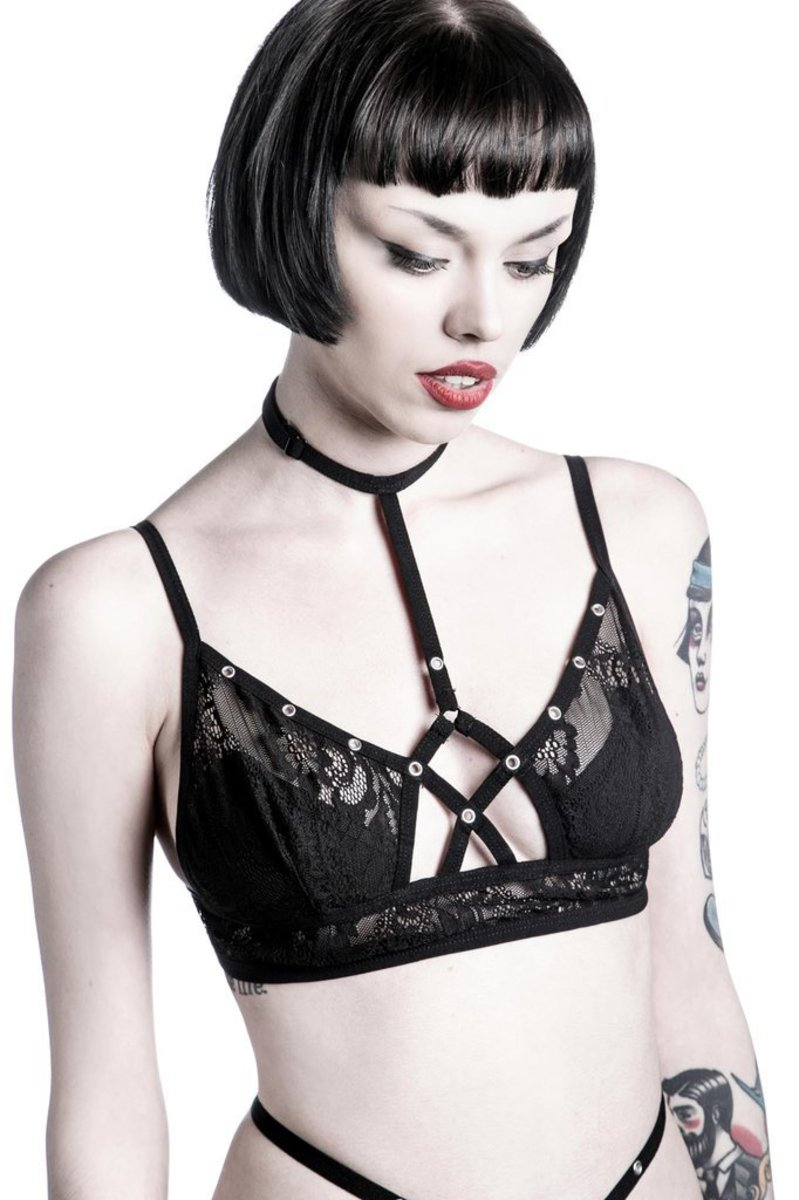 podprsenka KILLSTAR - Bella Morte Parisian -  Black - K-UND-F-2332