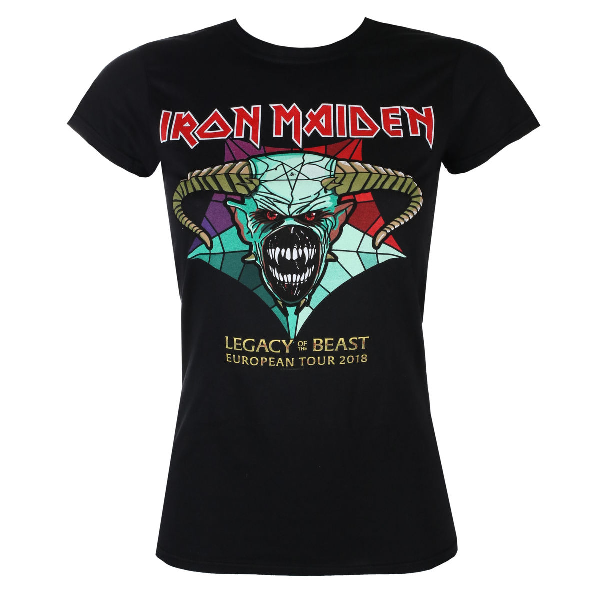 ROCK OFF Iron Maiden Legacy of the Beast European Tour 2018 černá