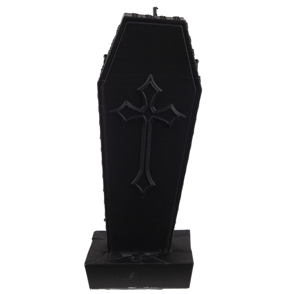 svíčka Coffin with Cross - Black Matt - YO014