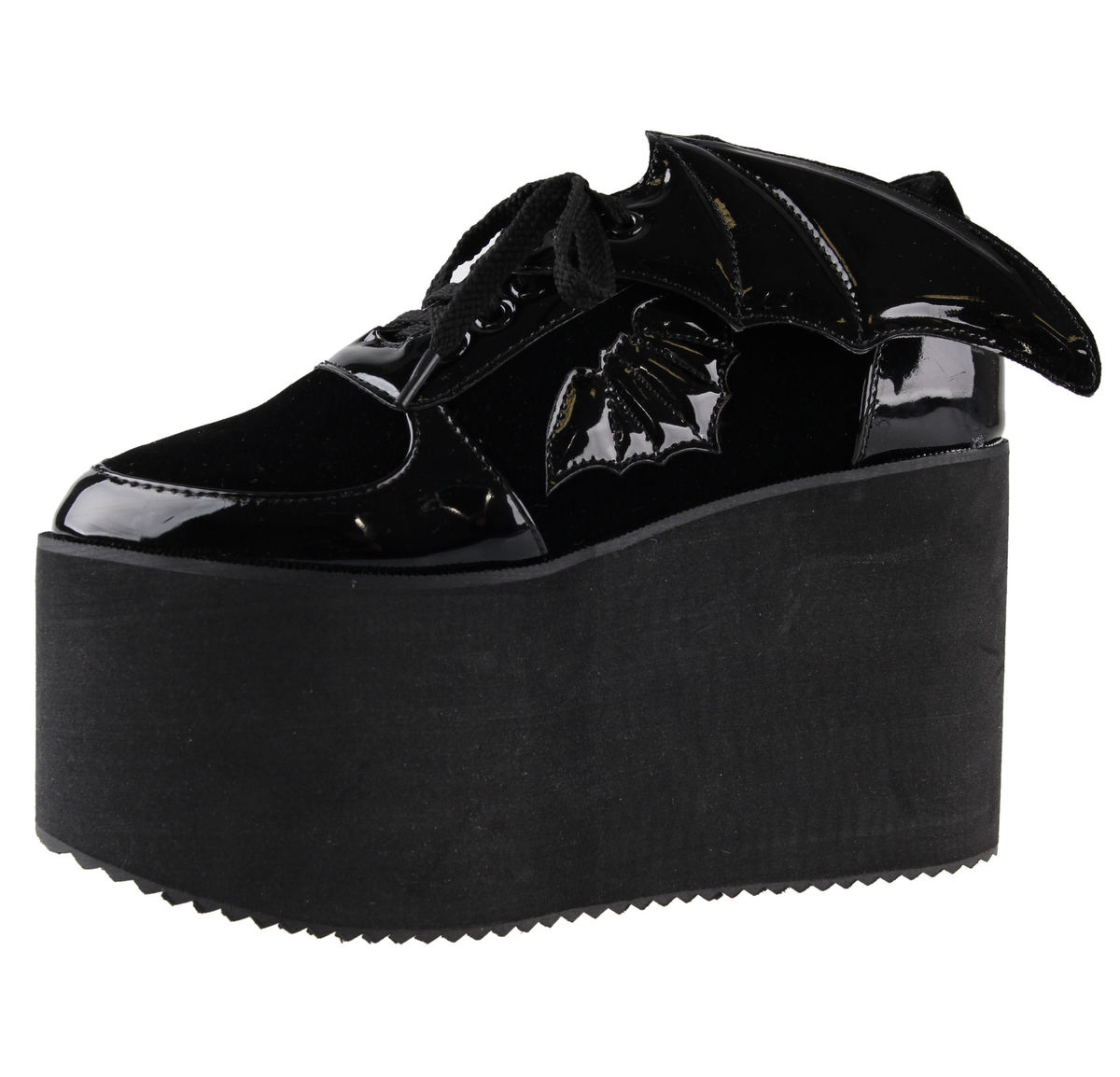 boty s klínem dámské - Creature Of The Night Flatform - IRON FIST - IFW006007-BLACK 36