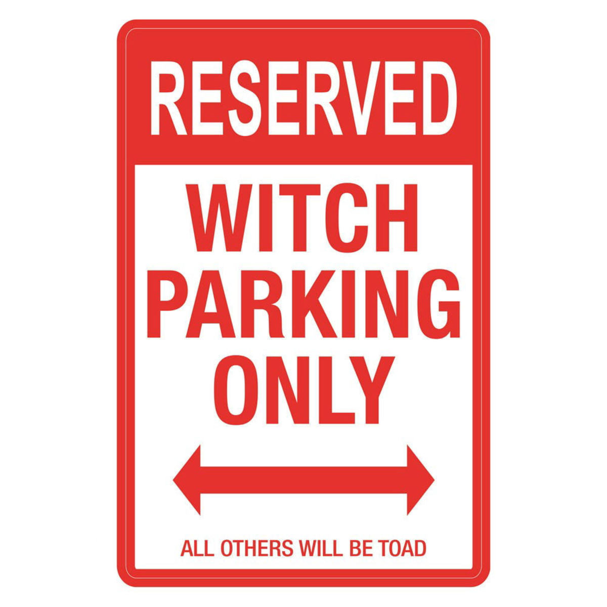 dekorace (cedule) Witch Parking - D2681G6