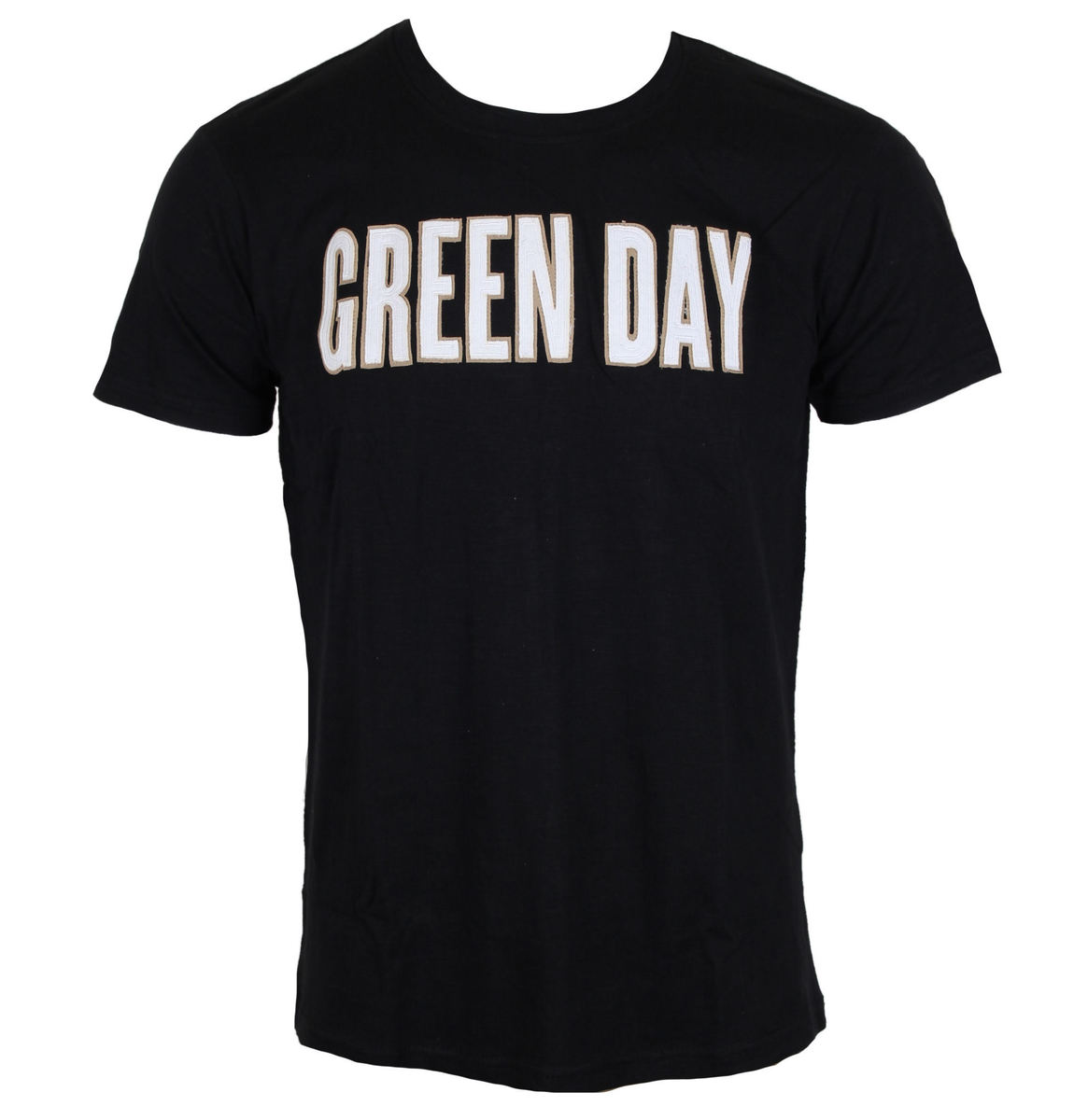 ROCK OFF Green Day Logo & Grenade Applique Slub černá