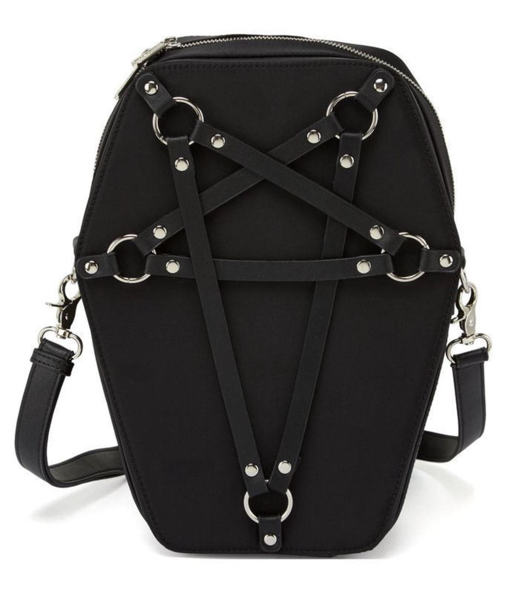 kabelka (taška) KILLSTAR - Hexellent Coffin - Black - K-BAG-F-2443