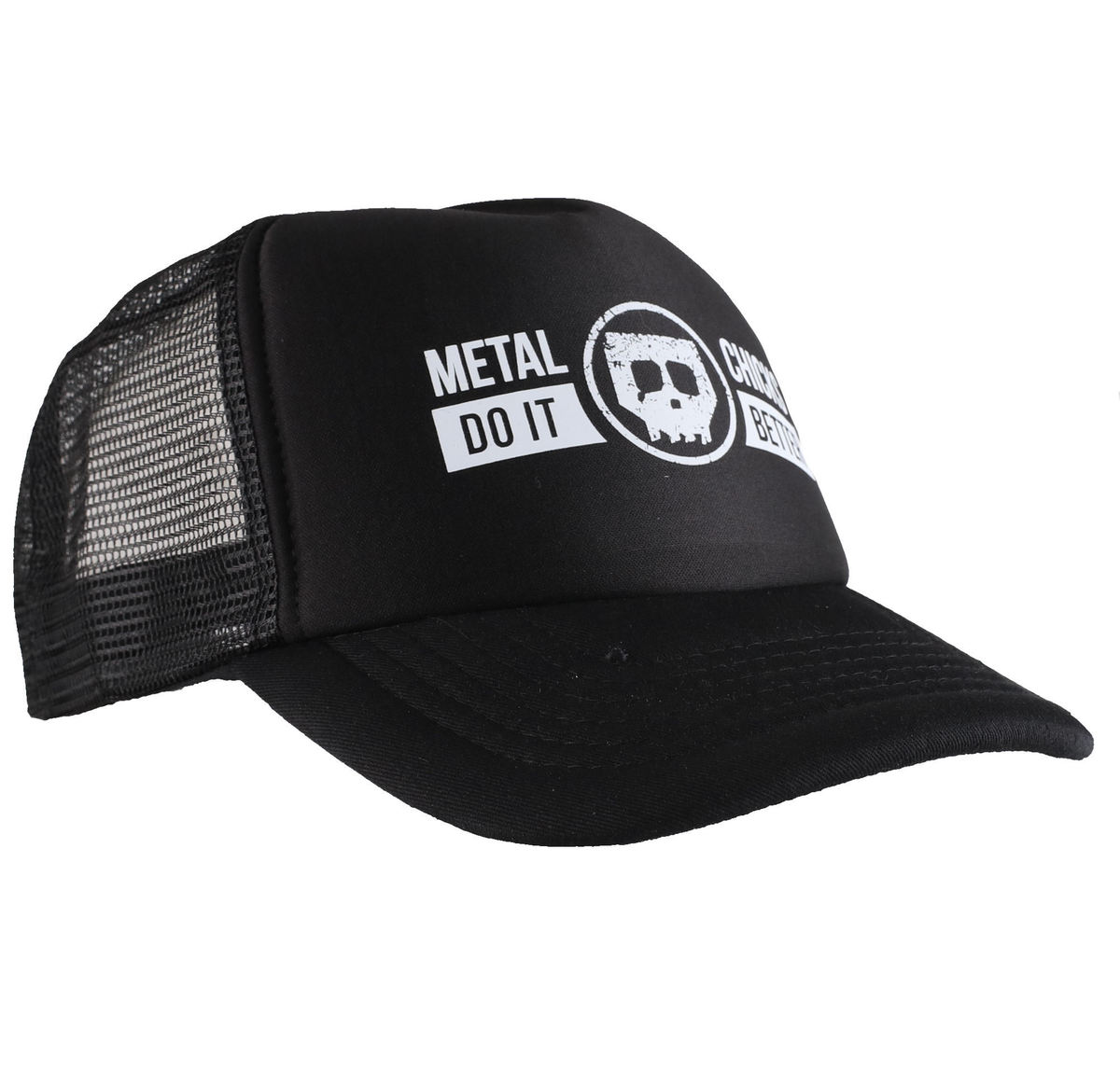 kšiltovka METAL CHICKS DO IT BETTER - Skull - Logo - Black - MCDIB018