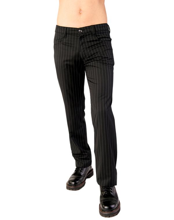 kalhoty Aderlass - Jeans Pin Stripe Black-White - A-1-05-051-00