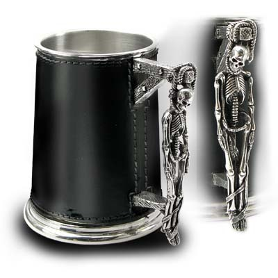 korbel Turpin's Gallows Leather Tankard ALCHEMY GOTHIC - AAT36
