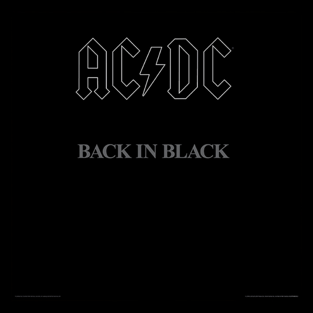 obraz ACDC - (Back In Black) - PYRAMID POSTERS - ACPPR48063