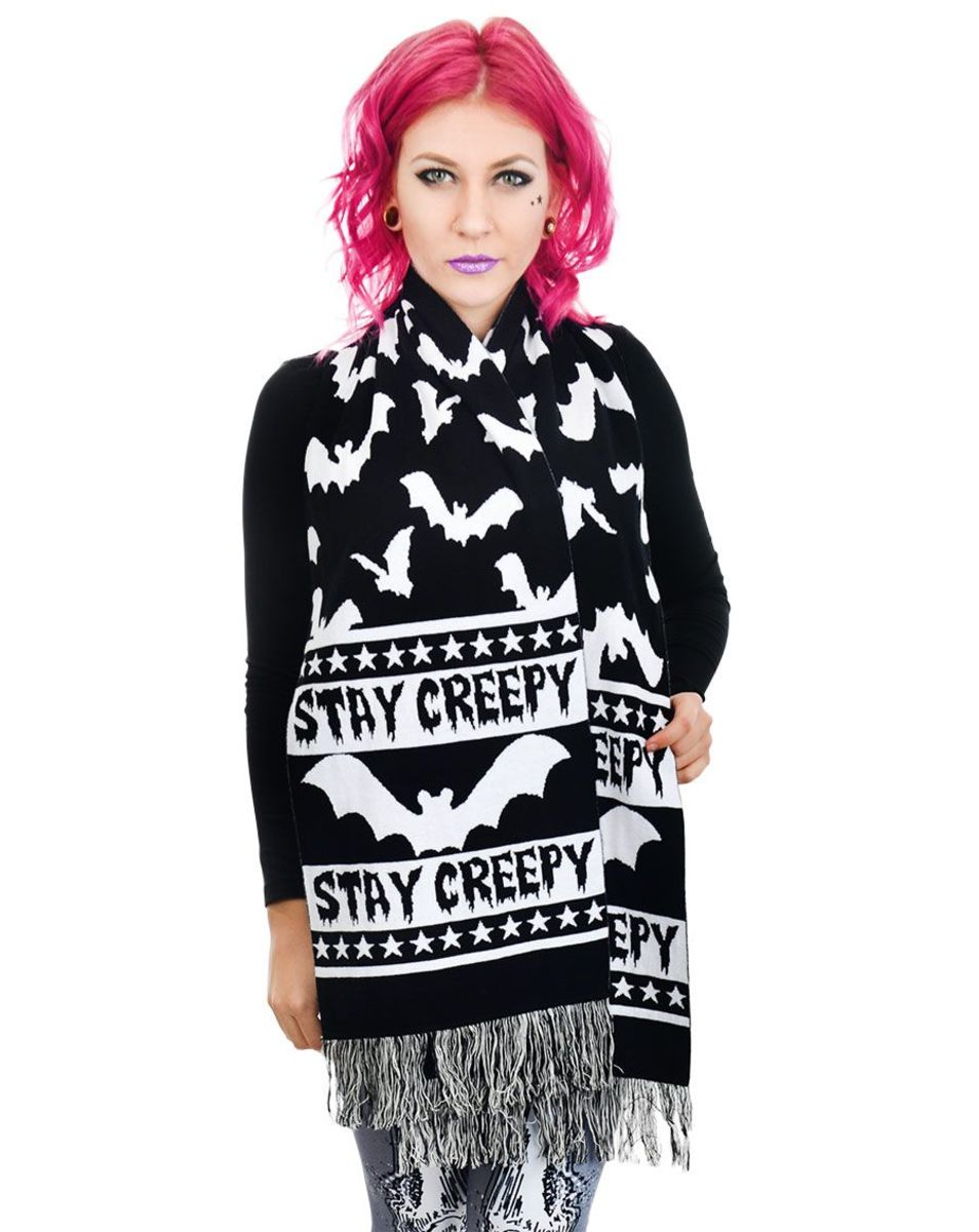 šál TOO FAST - STAY CREEPY BATS - ANKN-R-STAY