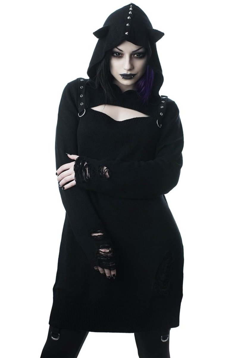 svetr dámský KILLSTAR - Bad Kitty - BLACK - KSRA000390