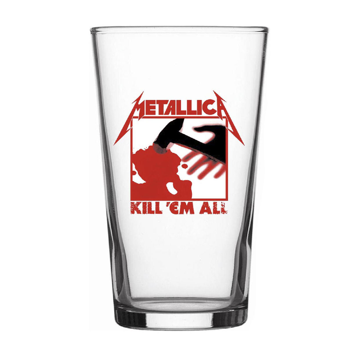 sklenice Metallica - Kill Em All - RAZAMATAZ - BG028