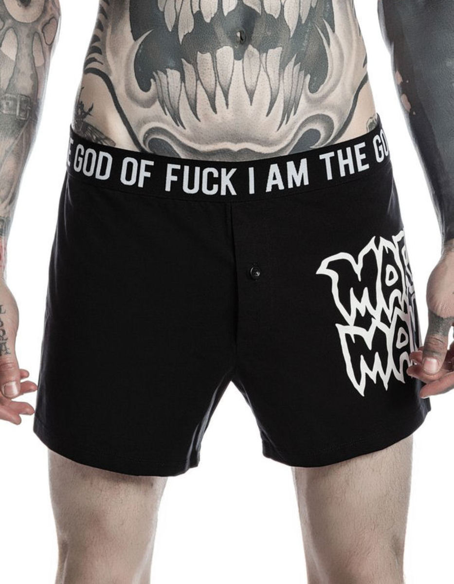 boxerky pánské KILLSTAR - MARILYN MANSON - God Of Fuck - Black - K-UND-M-2521 XS