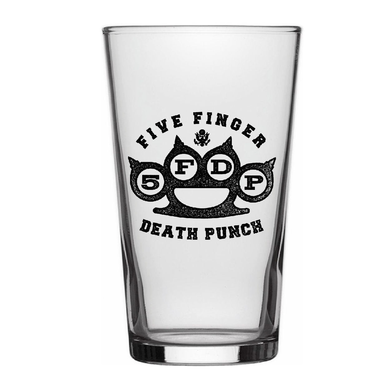 sklenice FIVE FINGER DEATH PUNCH - KNUCKLE LOGO - RAZAMATAZ - BG008