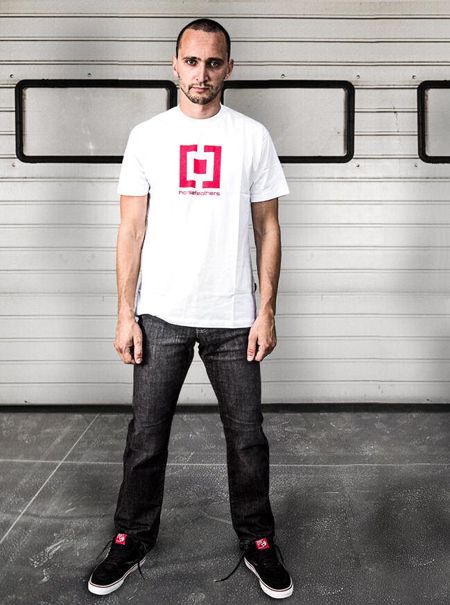 tričko pánské HORSEFEATHERS - Base - WHITE