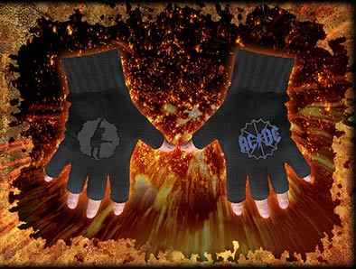 rukavice bezprsté AC/DC - Logo & Angus Cog Motif - FG030 - RAZAMATAZ