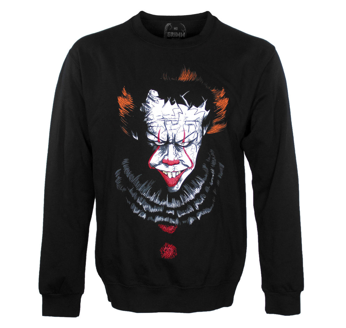 mikina bez kapuce unisex - DANCING CLOWN - GRIMM DESIGNS - GD16SW