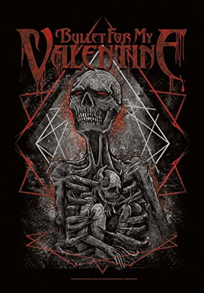 vlajka Bullet For my Valentine - Skeleton - HFL1170
