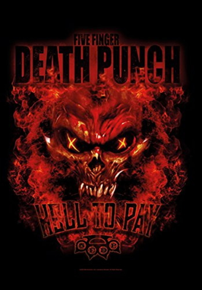 vlajka Five Finger Death Punch - Hell to Pay - HFL1176